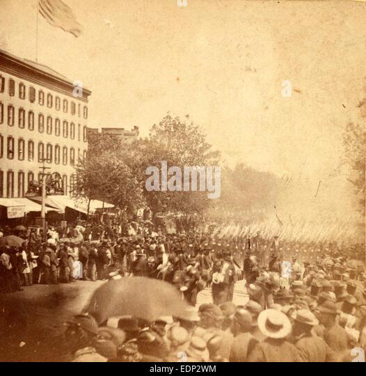 Grand Review, Washington, D.C., US, USA, America, Vintage photography - Stock Image