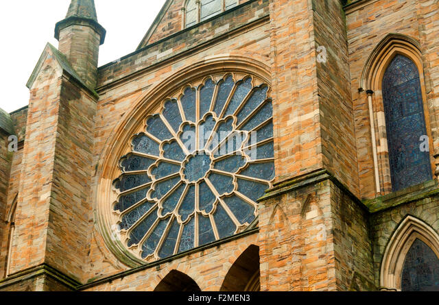 The Rose Window of the Chapel of the Nine Altars, Durham Cathedral, Durham England UK EEC EU Europe - Stock Image