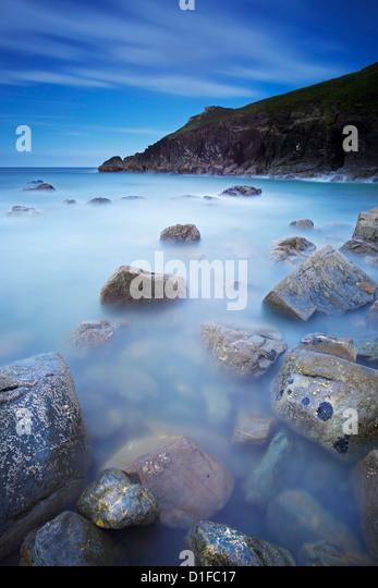Lundy Bay, Cornwall, England, United Kingdom, Europe - Stock Image