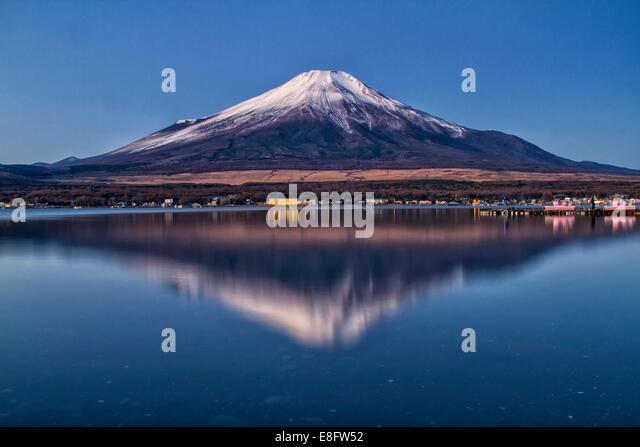 Japan, View of Mt Fuji - Stock Image