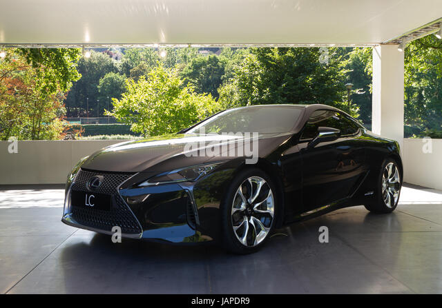 Turin, Italy, 7th June 2017. A Lexus LC Hybrid. Third edition of Parco Valentino car show hosts cars by many automobile - Stock Image