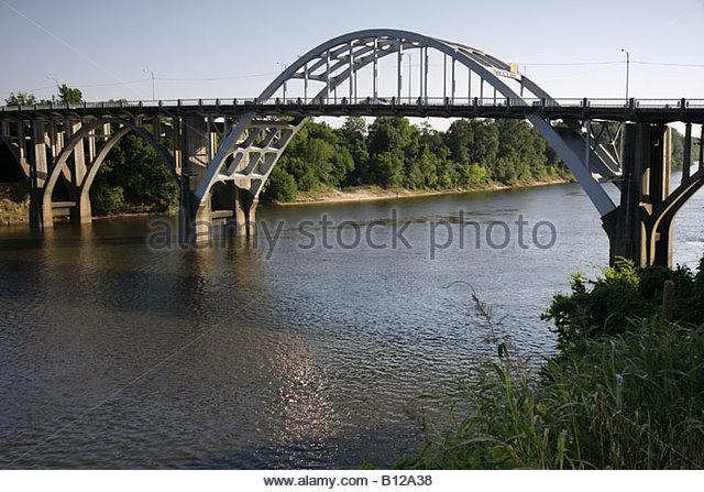 Selma Alabama Edmund Pettis Bridge Civil Rights Movement March to Selma Black History segregation - Stock Image