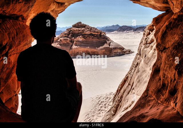 Cave meditation . - Stock-Bilder