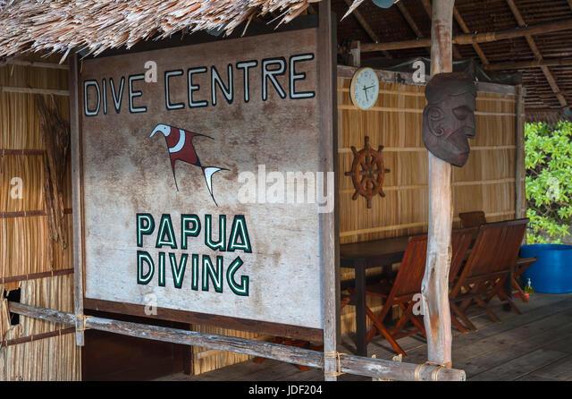 Papua Diving Resort, Raja-Ampat, Kri, Dampier Strait, Western New Guinea, Indonesia - Stock Image
