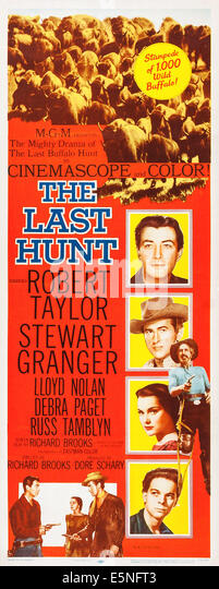 THE LAST HUNT, Robert Taylor, Debra Paget, Stewart Granger, 1956 - Stock Image