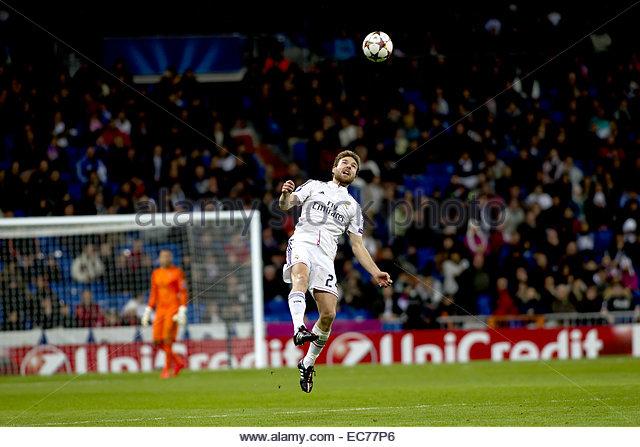 SPAIN, Madrid: Real Madrid's Spanish midfielder Asier Illarramendi during the Champions League 2014/15 match - Stock Image