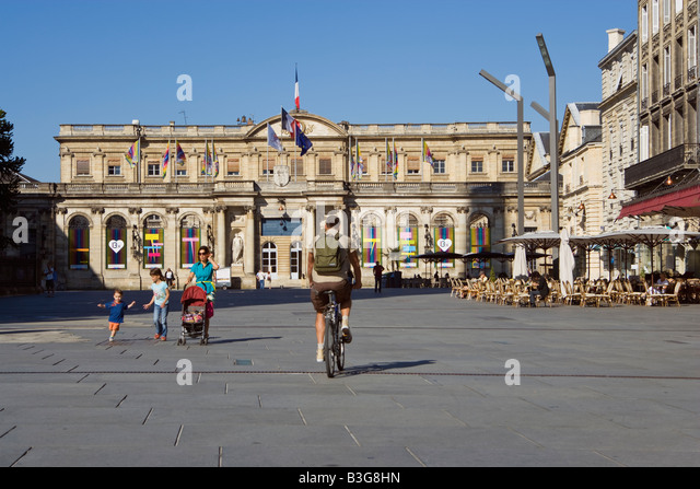 town city hall Bordeaux France townhall cityhall - Stock Image