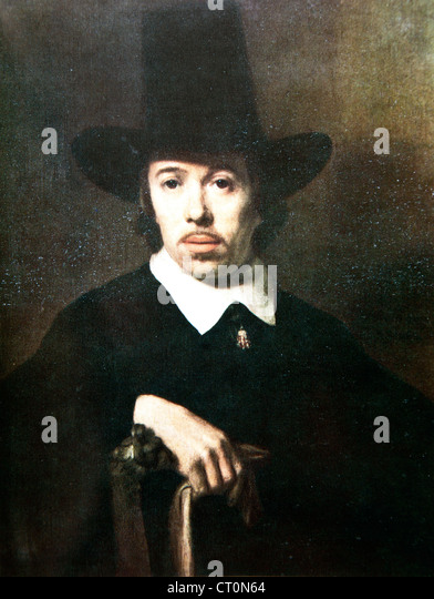 Portrait of an Unknown Man – attributed to Nicolaes Maes - Stock Image