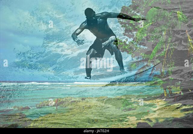 Surf Lifestyle, Siargao Island, Philippines - Stock-Bilder