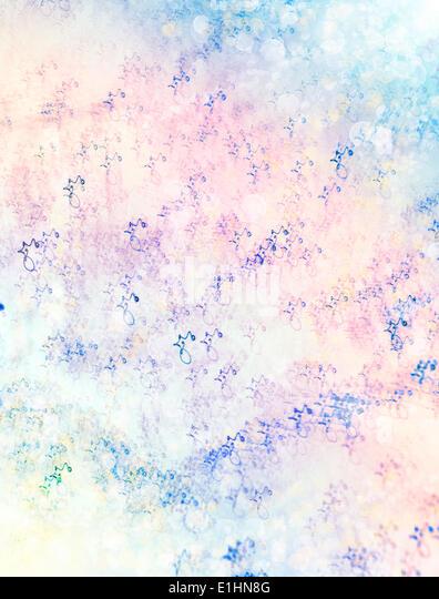 illumination. Waves. Magic fresh winter background - Stock Image