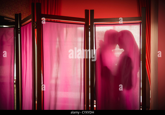 Germany, Stuttgart, Business couple in romance - Stock Image