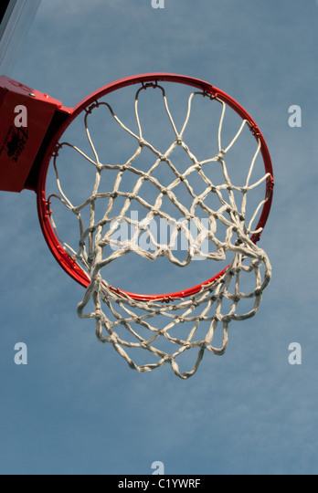 Basketball hoop and net - Stock Image