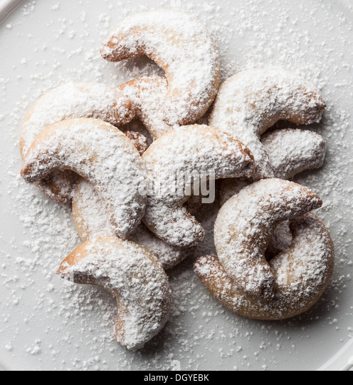 German vanilla biscuits (vanilla kipferl) - Stock Image