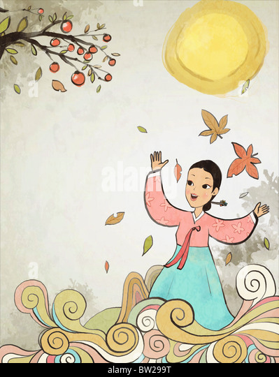 Chuseok and Autumn air - Stock-Bilder