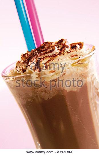 Beverage, Drink, Kakao mit Sahnehaube - Stock-Bilder