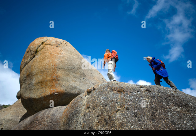 Granite rocks, Whisky Bay, Wilsons Promontory National Park, Victoria, Australia - Stock Image