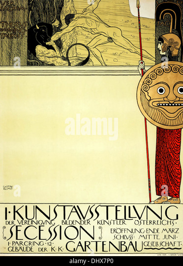 Poster for the 1st Secession exhibition - Gustav Klimt, 1898  - Editorial use only. - Stock Image