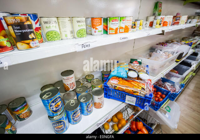 The Lewisham Food Bank in New Cross, London, UK. - Stock Image