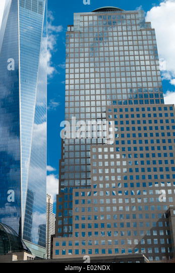 Modern office buildings, Financial district, Manhattan, New York - Stock-Bilder