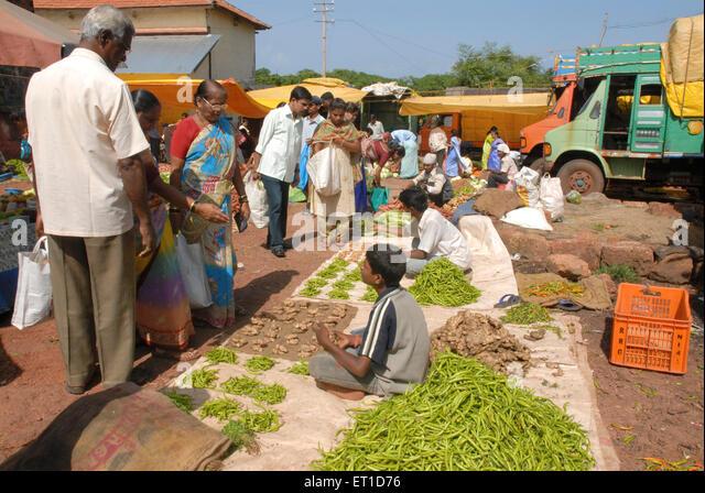 Athawadi bazaar ; Devgarh ; Konkan ; Maharashtra ; India - Stock Image