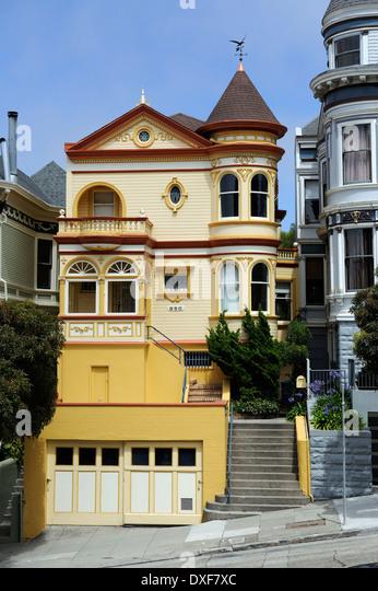 San francisco victorian houses stock photos san for San francisco victorian houses