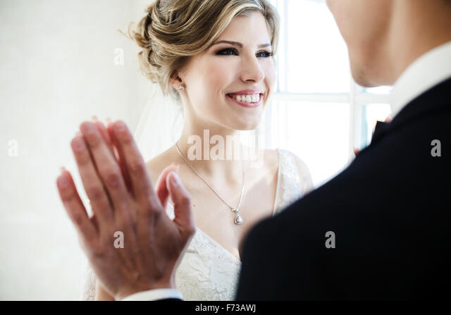 couple on white background - Stock-Bilder