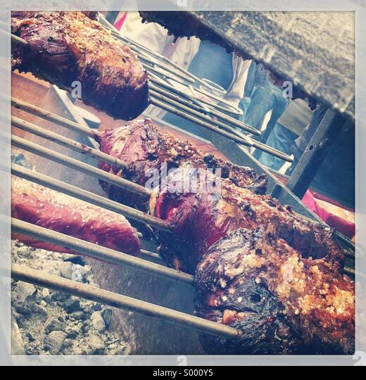 BBQ at Grillstock, Bristol, UK - Stock Image