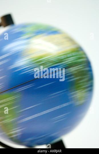 Spinning globe - Stock Image