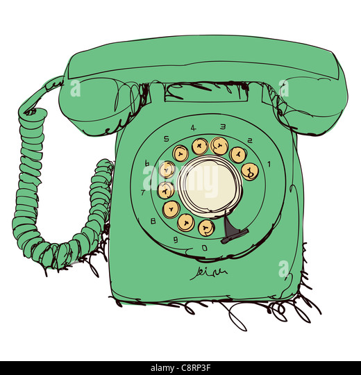 Retro Telephone - Stock Image