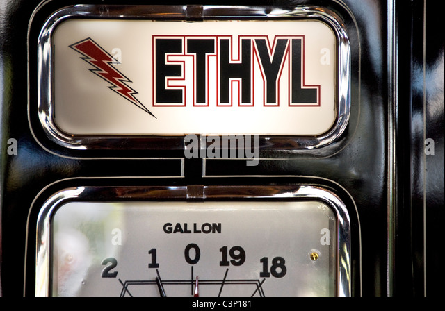 Restored gasoline pump - Stock Image