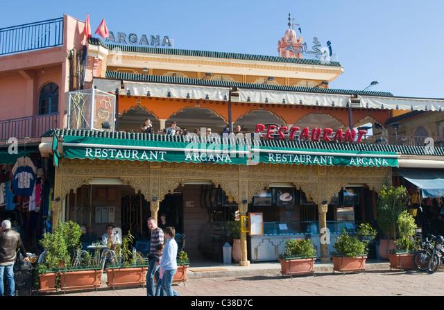 Cafe argana marrakech morocco stock photos cafe argana for Argana moroccan cuisine
