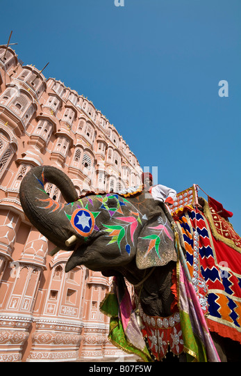 Palace of the Winds (Hawa Mahal), Jaipur, Rajasthan, India - Stock-Bilder