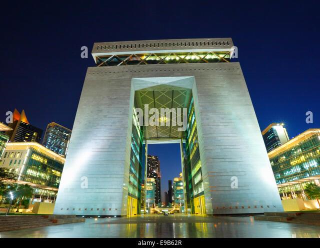 Dubai Dubai International Financial Center  building - Stock Image