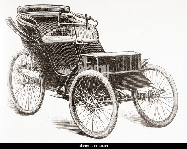 An early petrol driven Clément motor car. - Stock Image
