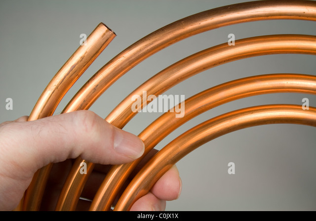 Copper pipes stock photos copper pipes stock images alamy for Copper pipe for water