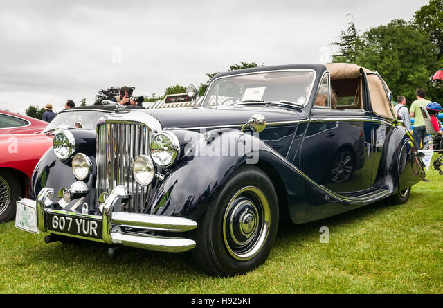 Vintage car show - Jaguar Mark V - Stock Image