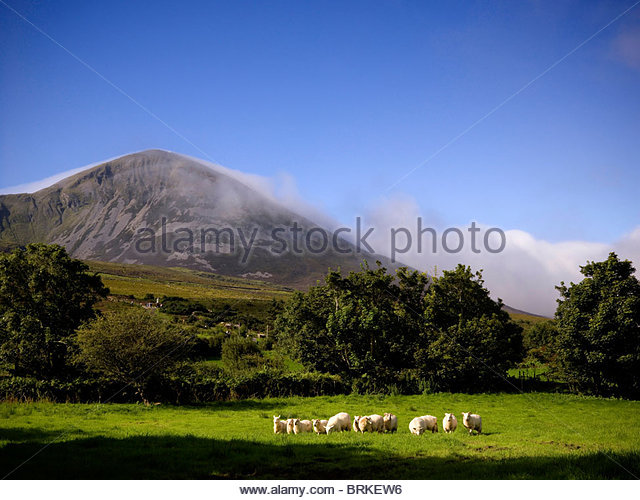 Croagh Patrick Mountain in County Mayo - Stock Image