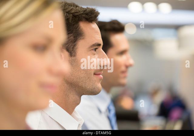 Woman men group office profile line - Stock-Bilder