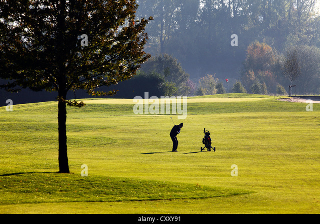 Schloss Horst golf course, lane 1, Par 5Gelsenkirchen, Germany - Stock Image
