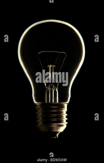 Light bulb - Stock Image