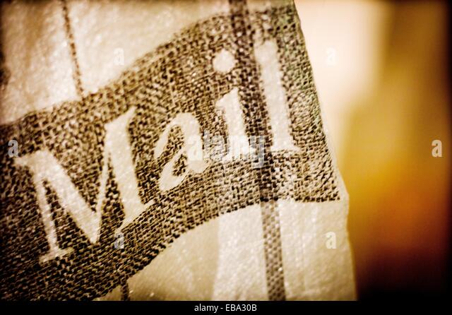 Mail, English mailbag - Stock Image