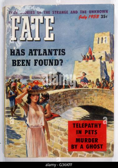 Cover of Fate Magazine depicting an artist's  impression of Atlantis - Stock Image
