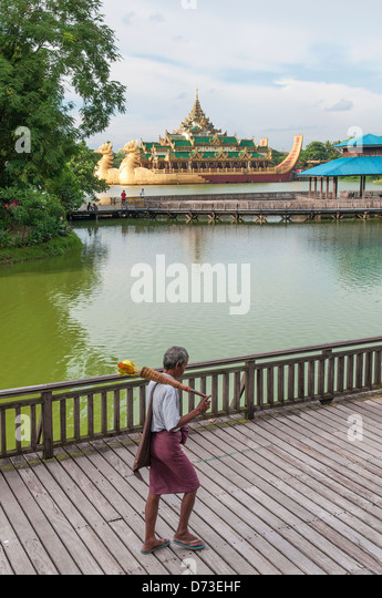 royal barge in yangon myanmar park - Stock-Bilder