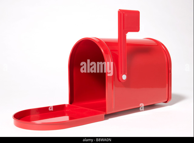 open empty U.S. Mail Box - Stock Image