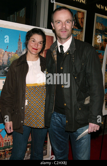 Heather Goldenhersh & Brian F. O'Bryne New York Premiere of 'In Bruges' at the IFC Centre New York - Stock Image