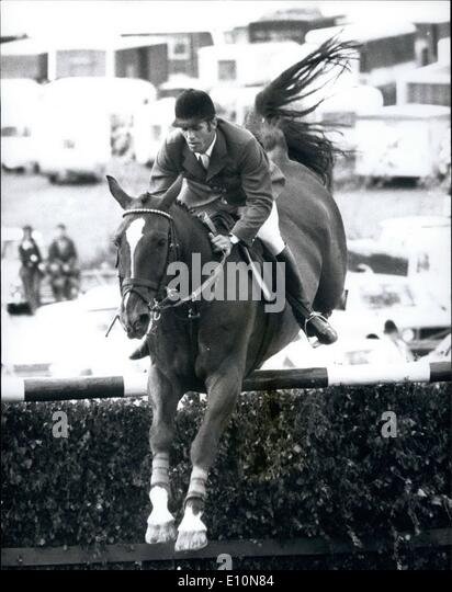 Jul. 07, 1973 - Show Jumping at Hickstead Men's European Championships: Photo Shows Alwin Schockemoehle (Germany) - Stock Image