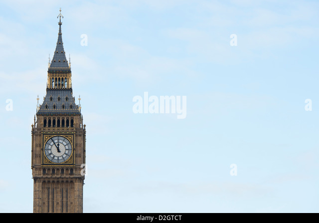 Big Ben and the Houses of Parliament - Stock Image