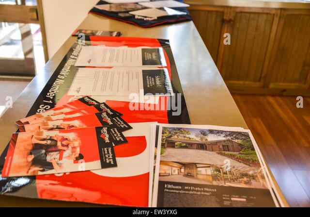 home buyer pamphlet for purchaser on auction day. - Stock Image