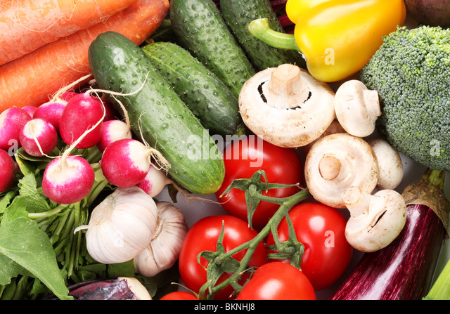 Group of fresh vegetables - Stock Image
