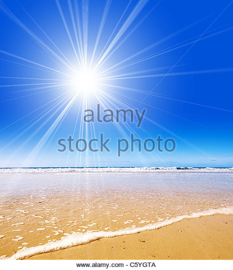 sunshine beach - Stock Image
